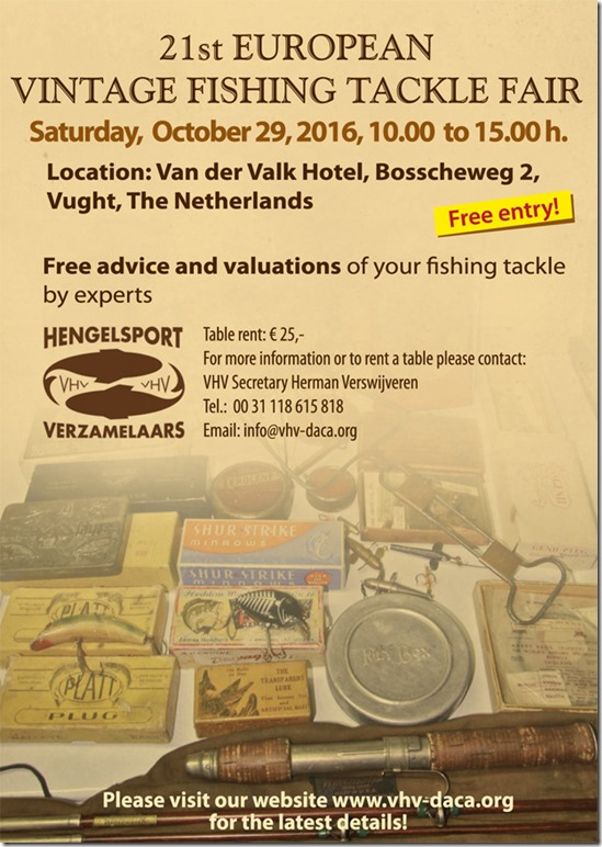 XXI Euroshow Events - European Vintage Fishing Tackle Fair - Octorber 29 2016 - Vught
